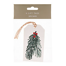 Buy John Lewis Pine Needles Gift Tags, Pack of 4 Online at johnlewis.com