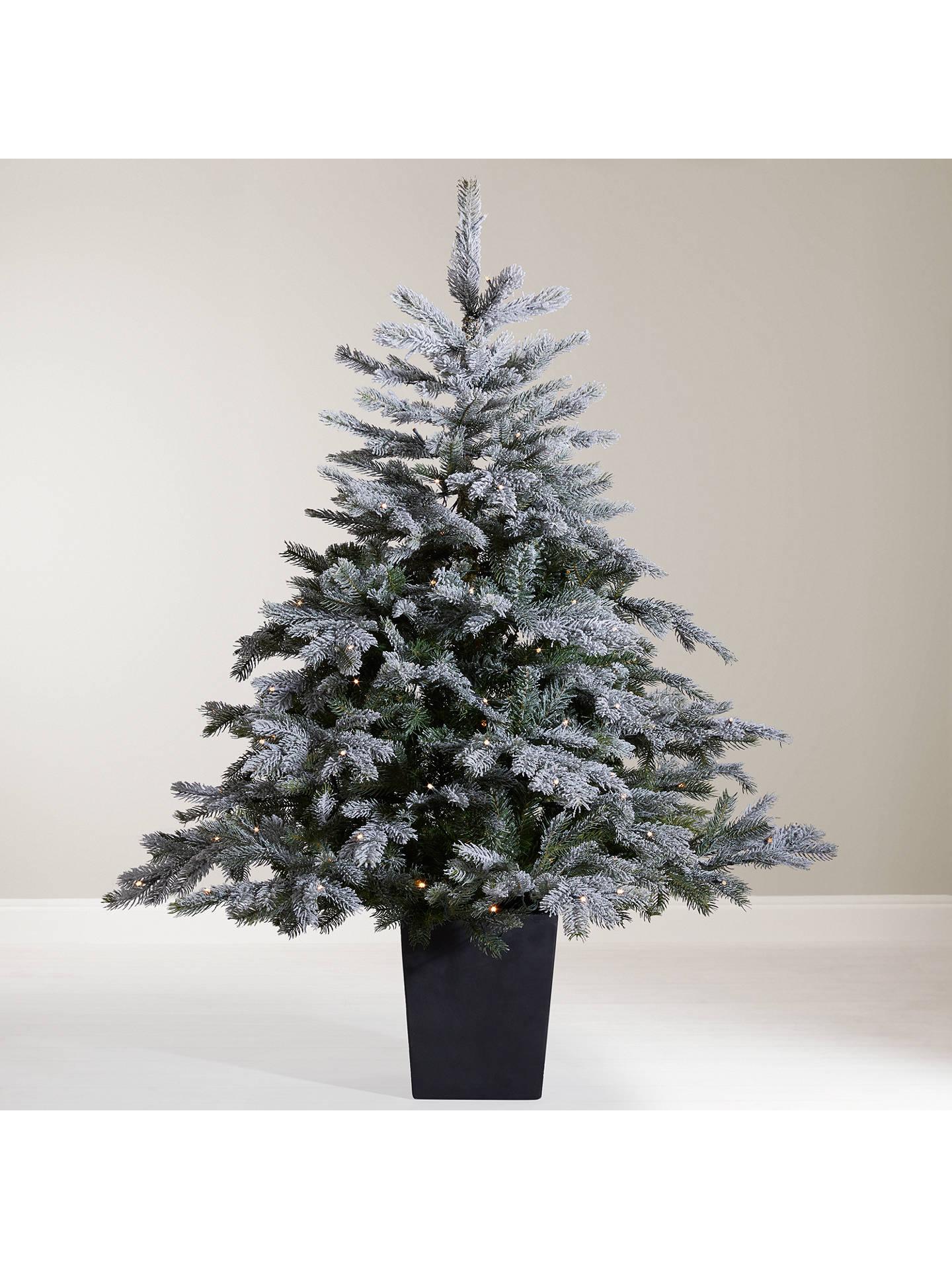 John Lewis Isla Mist Pre-Lit Potted Christmas Tree, 4.5ft at John Lewis & Partners
