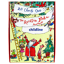 Buy Woodmansterne Quentin Blake Charity Christmas Cards, Pack of 20 Online at johnlewis.com