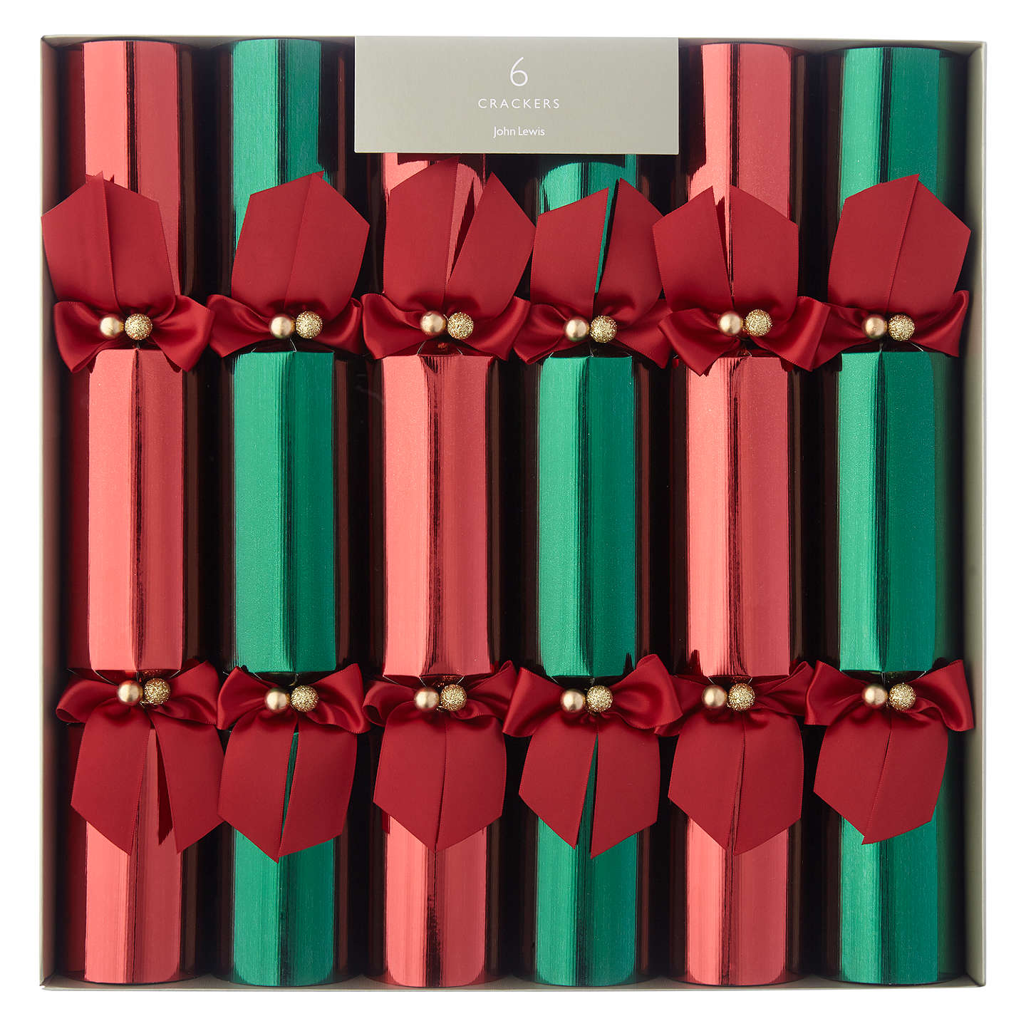 John lewis premium christmas crackers pack of 6 redgreen at john buyjohn lewis premium christmas crackers pack of 6 redgreen online at johnlewis solutioingenieria Gallery