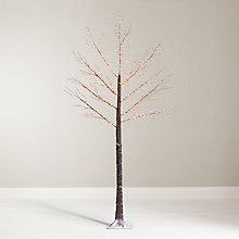 Buy John Lewis Pre-Lit Copper Twig Tree, White, 7.5ft Online at johnlewis.com