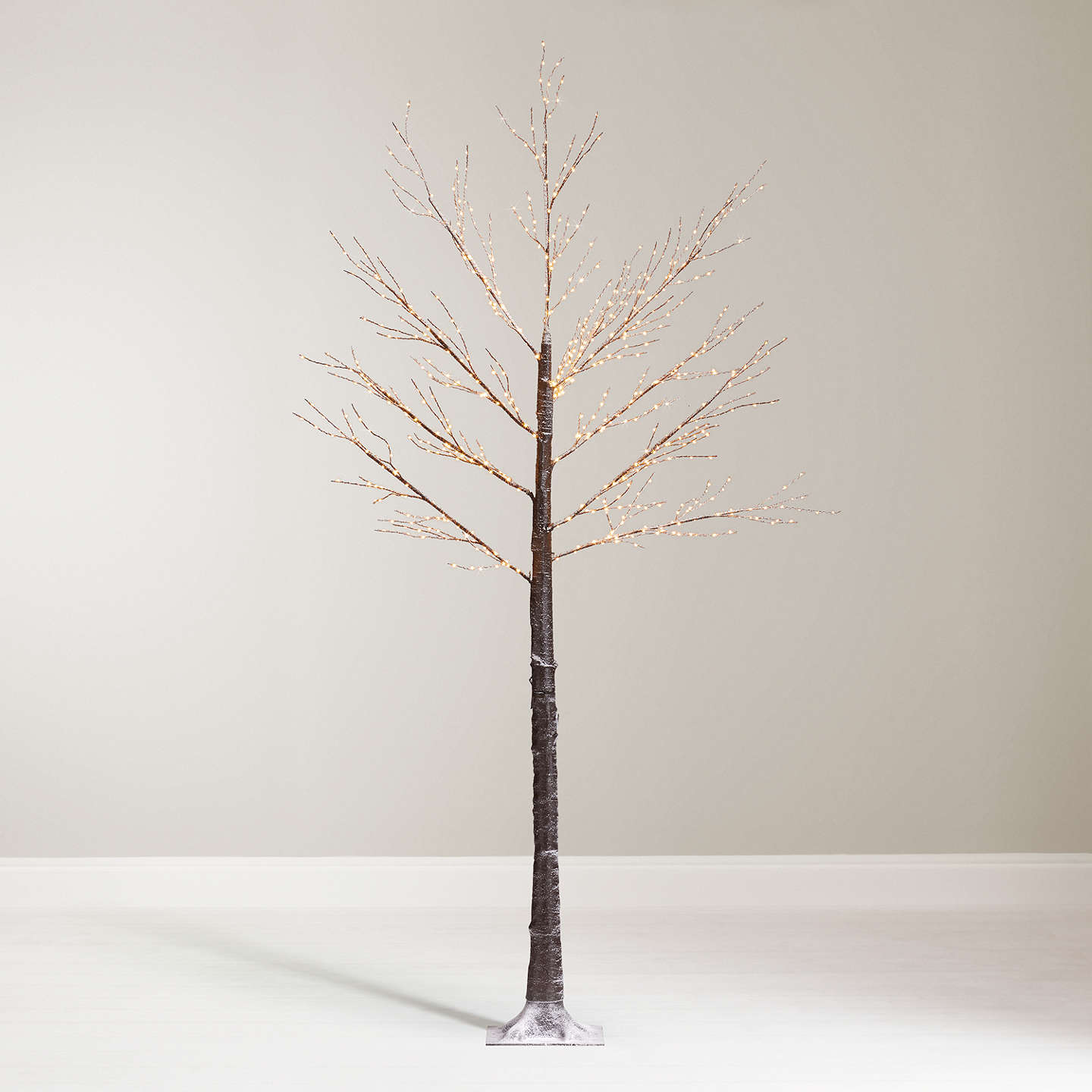 Buyjohn Lewis Pre Lit Copper Twig Tree, White, 75Ft Online At