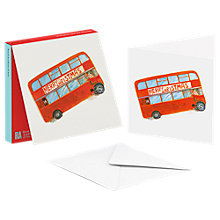 Buy ArtPress London Bus Christmas Cards, Pack of 10 Online at johnlewis.com