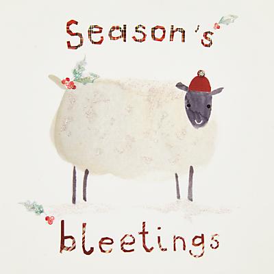 John Lewis Seasons Bleetings Charity Christmas Cards, Pack of 6