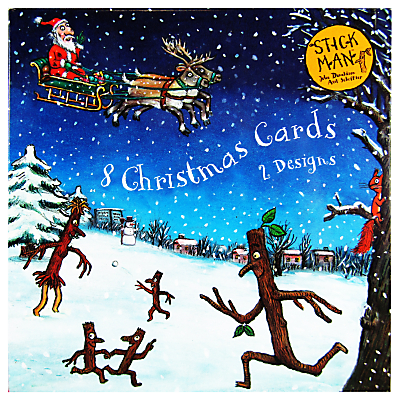 Woodmansterne Stick Man Luxury Christmas Cards, Pack of 8