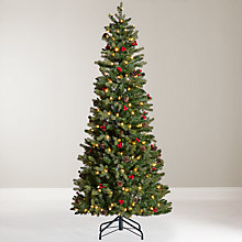 Buy John Lewis Pre-Lit Cone and Berry Pop-Up Christmas Tree, 6ft Online at johnlewis.com