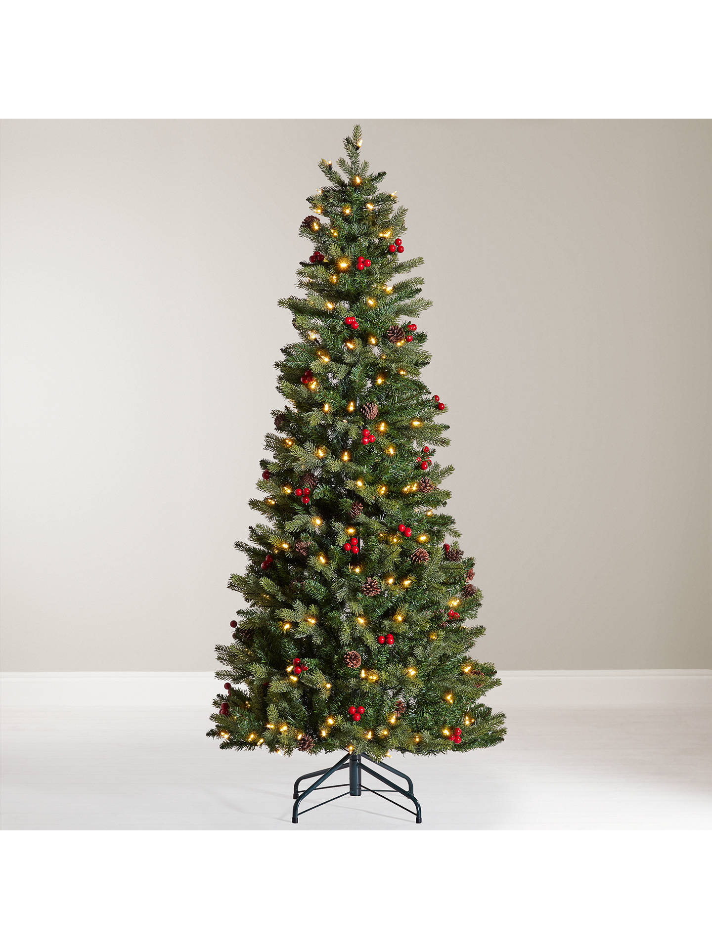 buyjohn lewis pre lit cone and berry pop up christmas tree 6ft online