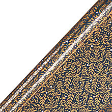 Buy John Lewis Winter Palace Navy Leaves Gift Wrap, W70cm x Roll Length 300cm Online at johnlewis.com