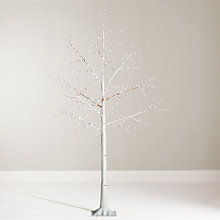 Buy John Lewis Pre-Lit Birch Twig Tree, White, 6ft Online at johnlewis.com