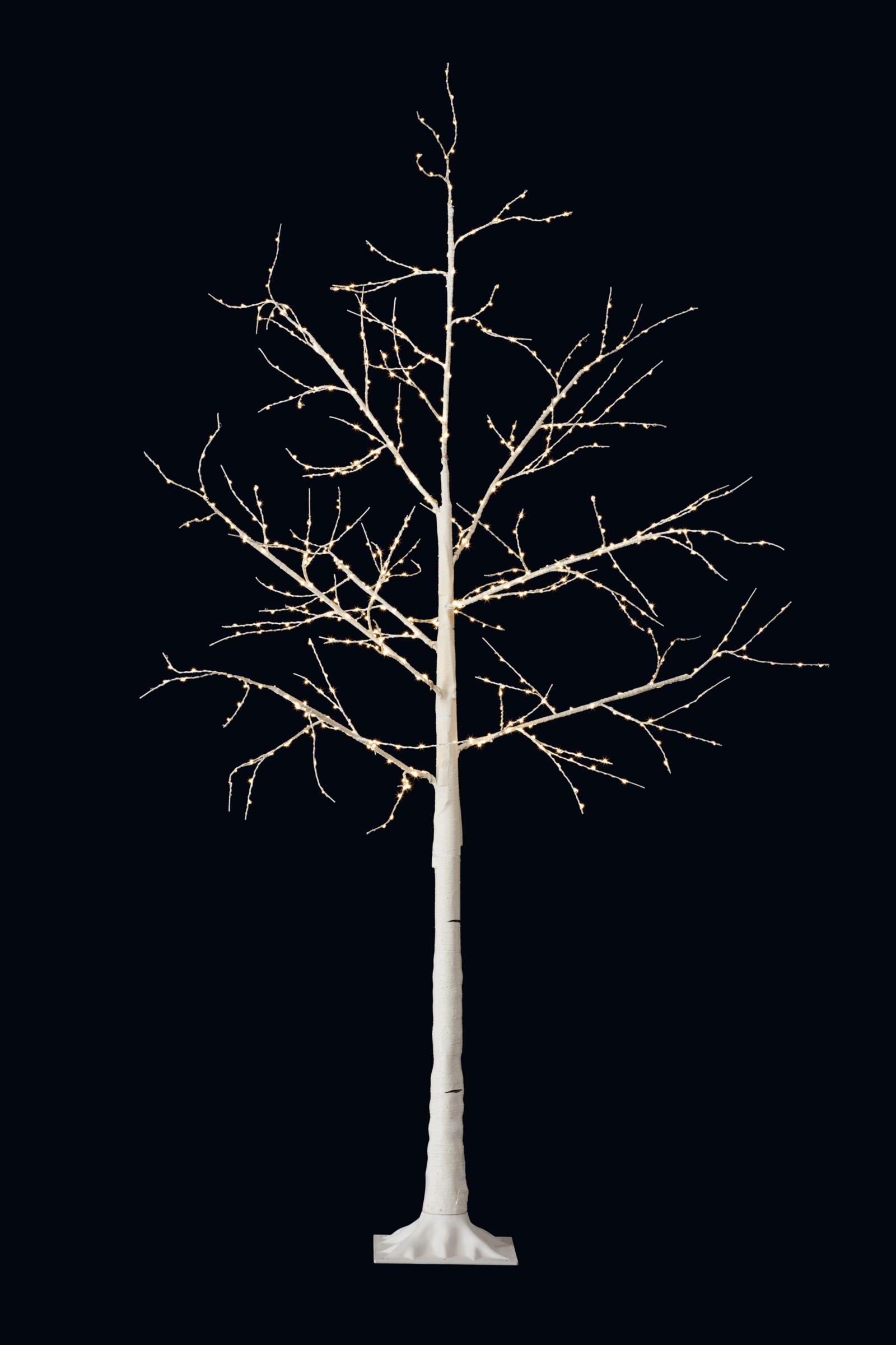 John Lewis Pre Lit Birch Twig Tree White 6ft At John Lewis Partners