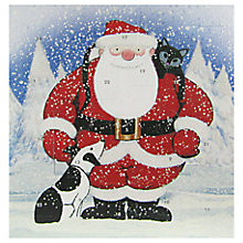 Buy Woodmansterne Santa Advent Calendar Christmas Card Online at johnlewis.com