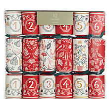Buy John Lewis Folklore 12 Days of Christmas Crackers, Pack of 12 Online at johnlewis.com