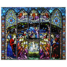 Buy Woodmansterne Stained Glass Window Christmas Advent Calendar Online at johnlewis.com