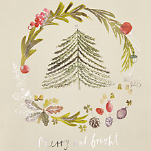 Buy John Lewis Tree Wreath Charity Christmas Cards, Pack of 6 Online at johnlewis.com