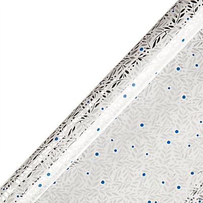 Vivid Winter Palace Leaves Gift Wrap, White, W70cm x Roll Length 300cm