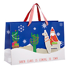 Buy John Lewis Wishing You Santa Action Gift Bag Online at johnlewis.com
