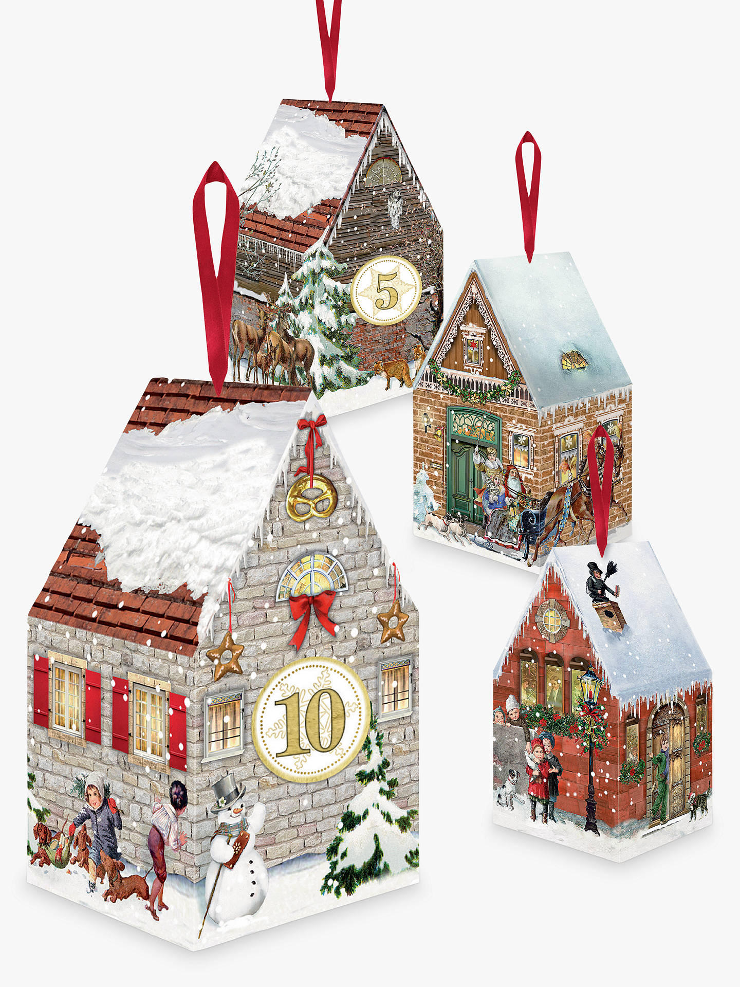 BuyCoppenrath Victorian Christmas Houses Advent Boxes, Pack of 24 Online at johnlewis.com