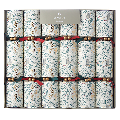 John Lewis Into the Woods Woodland Owl Christmas Crackers, Pack of 6