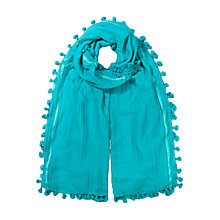 Buy East Silk Cotton Pom Pom Scarf Online at johnlewis.com