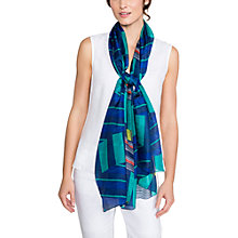 Buy East Martina Stripe Scarf, Navy Online at johnlewis.com