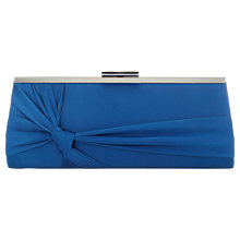 Buy Jacques Vert Knot Detail Clutch Bag, Teal Online at johnlewis.com