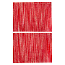 Buy John Lewis Scandi Nova Cotton Placemats, Set of 2, Red Online at johnlewis.com
