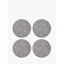 Buy House by John Lewis Felt Coasters, Set of 4, Grey Online at johnlewis.com