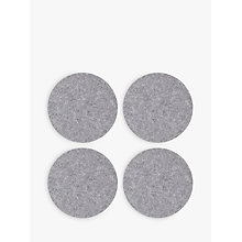 Buy House by John Lewis Round Felt Placemats, Set of 4 Online at johnlewis.com