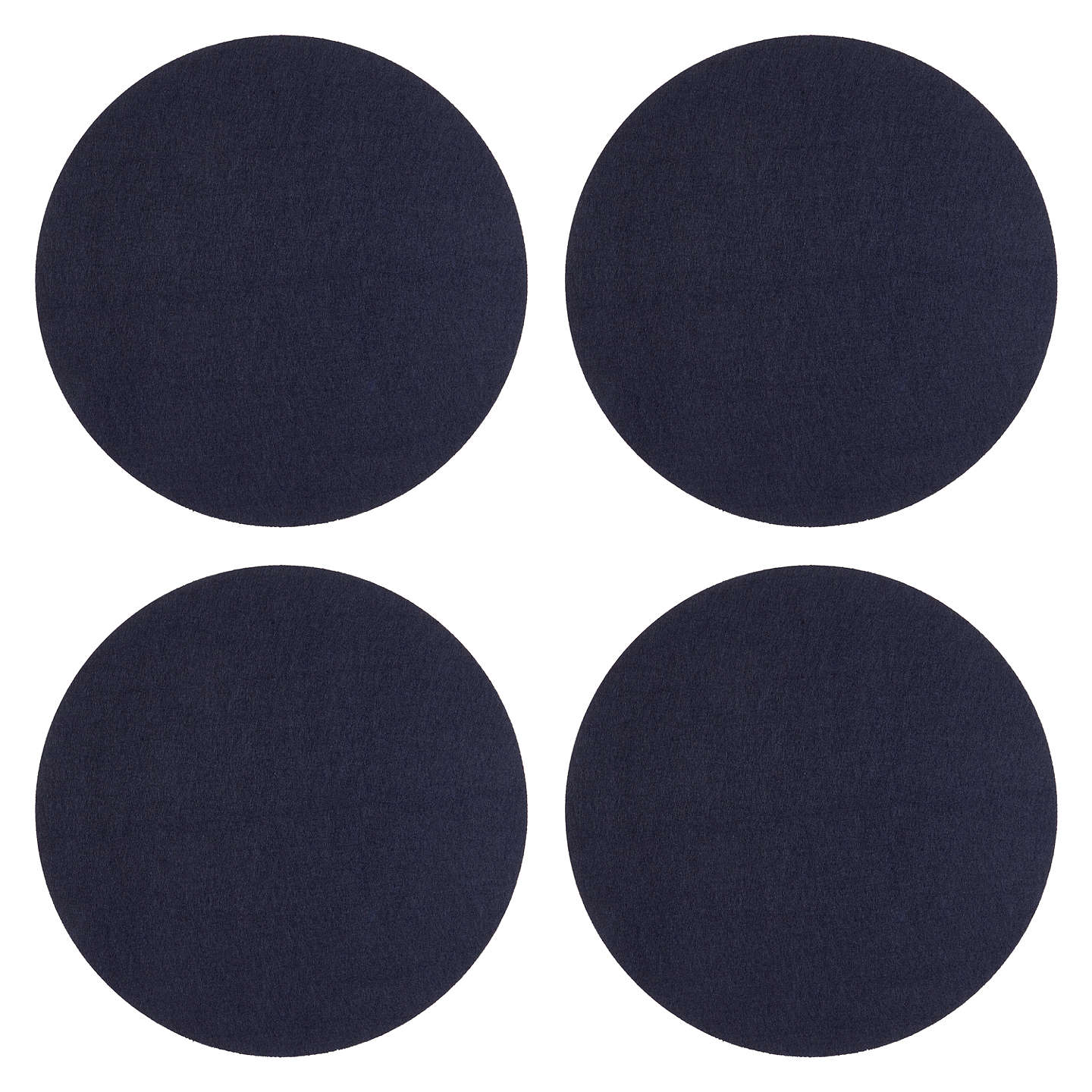 BuyHouse by John Lewis Round Felt Placemats, Set of 4, Navy Online at johnlewis.com