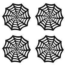 Buy John Lewis Halloween Web Placemats, Black, Set of 4 Online at johnlewis.com