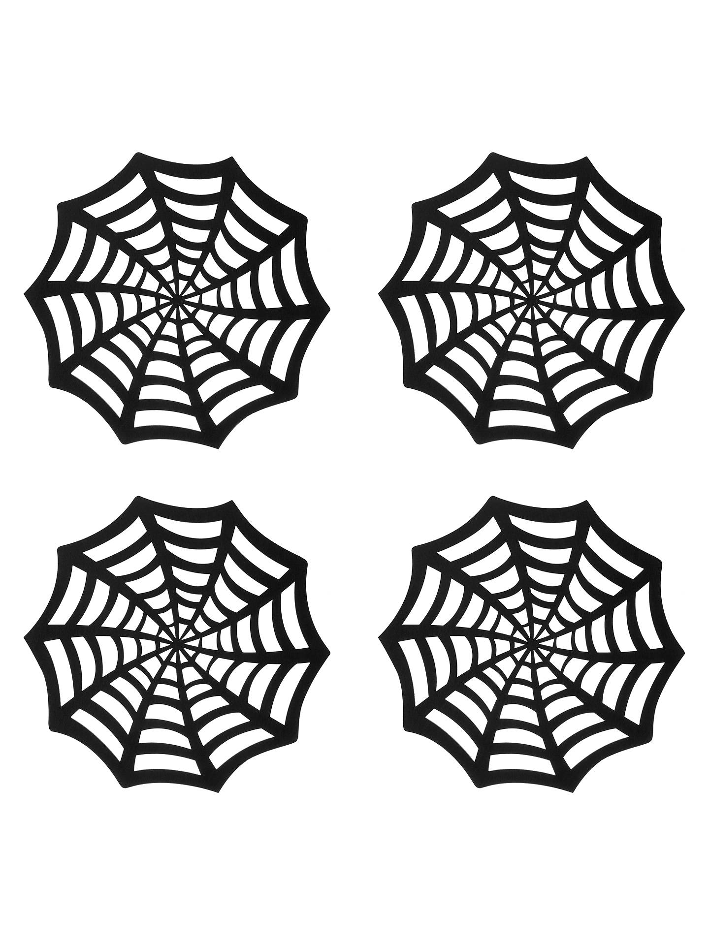 BuyJohn Lewis Halloween Web Placemats, Black, Set of 4 Online at johnlewis.com