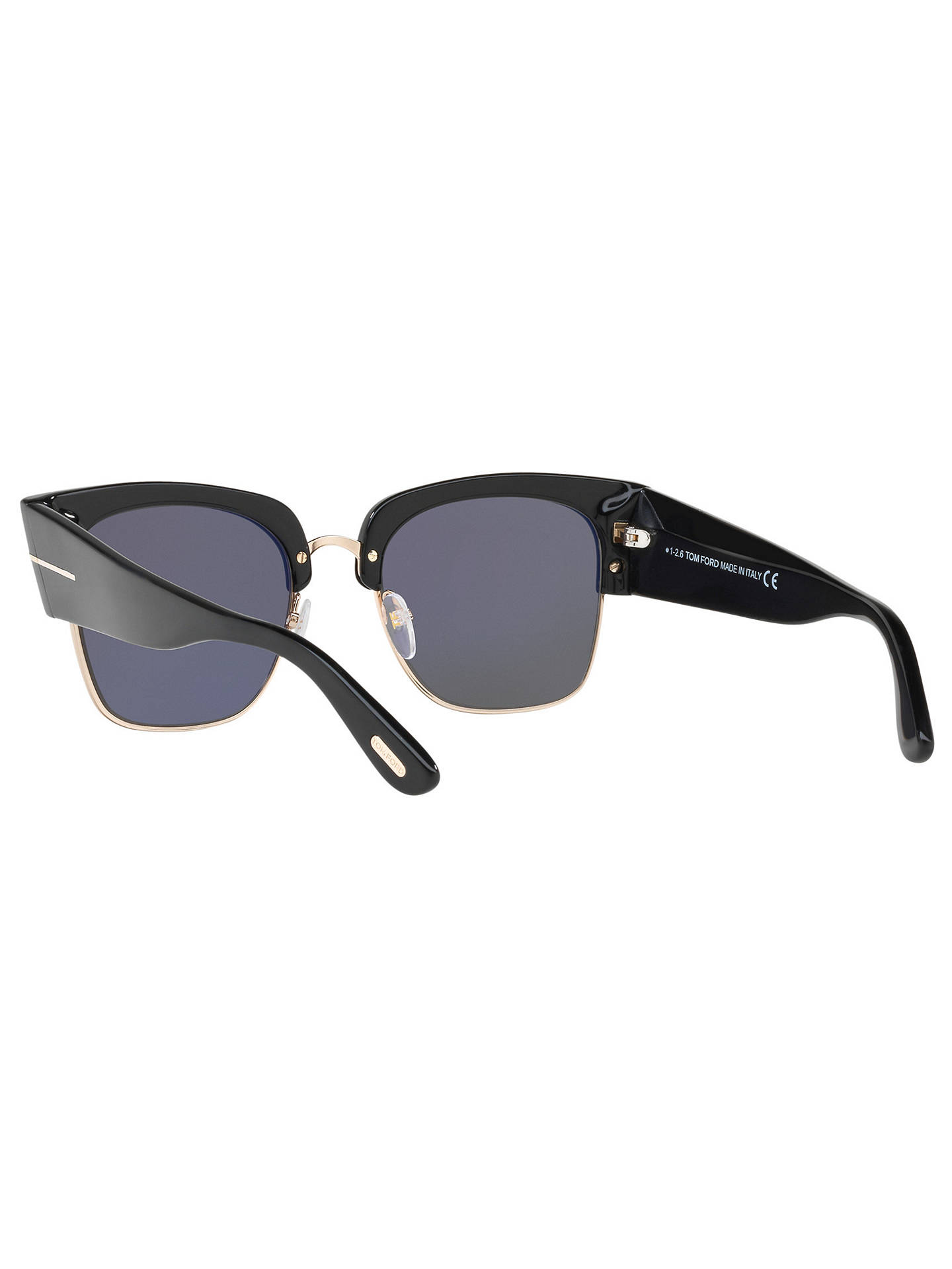 BuyTOM FORD FT0554 Dakota Square Sunglasses, Black/Smoke Online at johnlewis.com