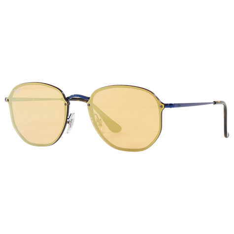 best place to buy ray bans dozu  Buy Ray-Ban RB3579N Oval Sunglasses, Blue/Yellow Online at johnlewiscom