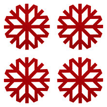 Buy John Lewis Snowflake Coasters, Red, Set of 4 Online at johnlewis.com