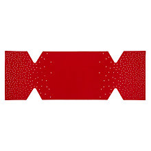 Buy John Lewis Felt Cracker Table Centrepiece, Red Online at johnlewis.com