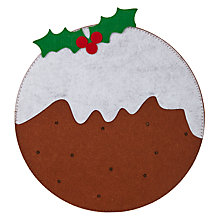 Buy John Lewis Christmas Pudding Placemat, Felt Online at johnlewis.com