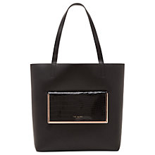 Buy Ted Baker Ivalyn Leather Shopper Bag, Black Online at johnlewis.com