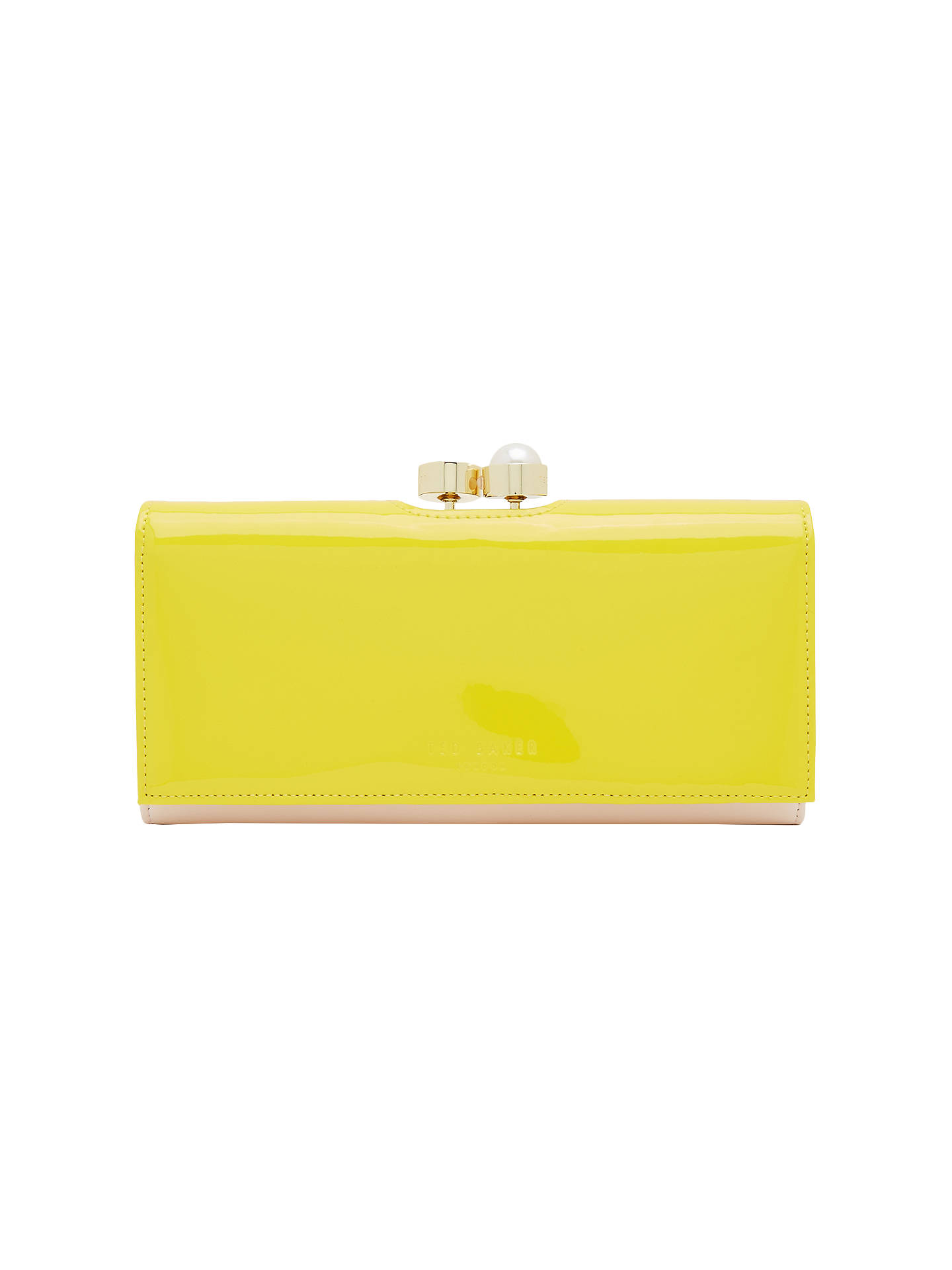 d20bb71fb75 Buy Ted Baker Cecilie Pearl Leather Matinee Purse, Yellow Online at  johnlewis.com ...