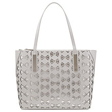 Buy Ted Baker Dottii Leather Shopper Bag, Silver Online at johnlewis.com