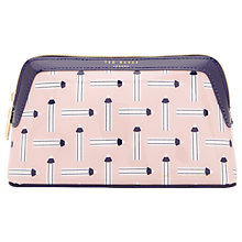 Buy Ted Baker Colour By Numbers Vlani Washbag, Nude Online at johnlewis.com