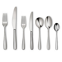 Buy John Lewis Seville 18/10 Polished Stainless Steel Cutlery Set, 42 Piece Online at johnlewis.com