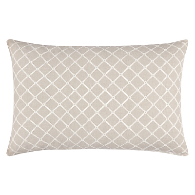 John Lewis Country Lattice Cushion, Grey