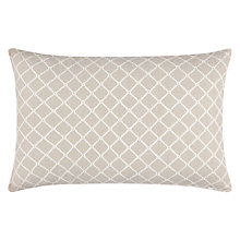 Buy John Lewis Country Lattice Cushion, Grey Online at johnlewis.com