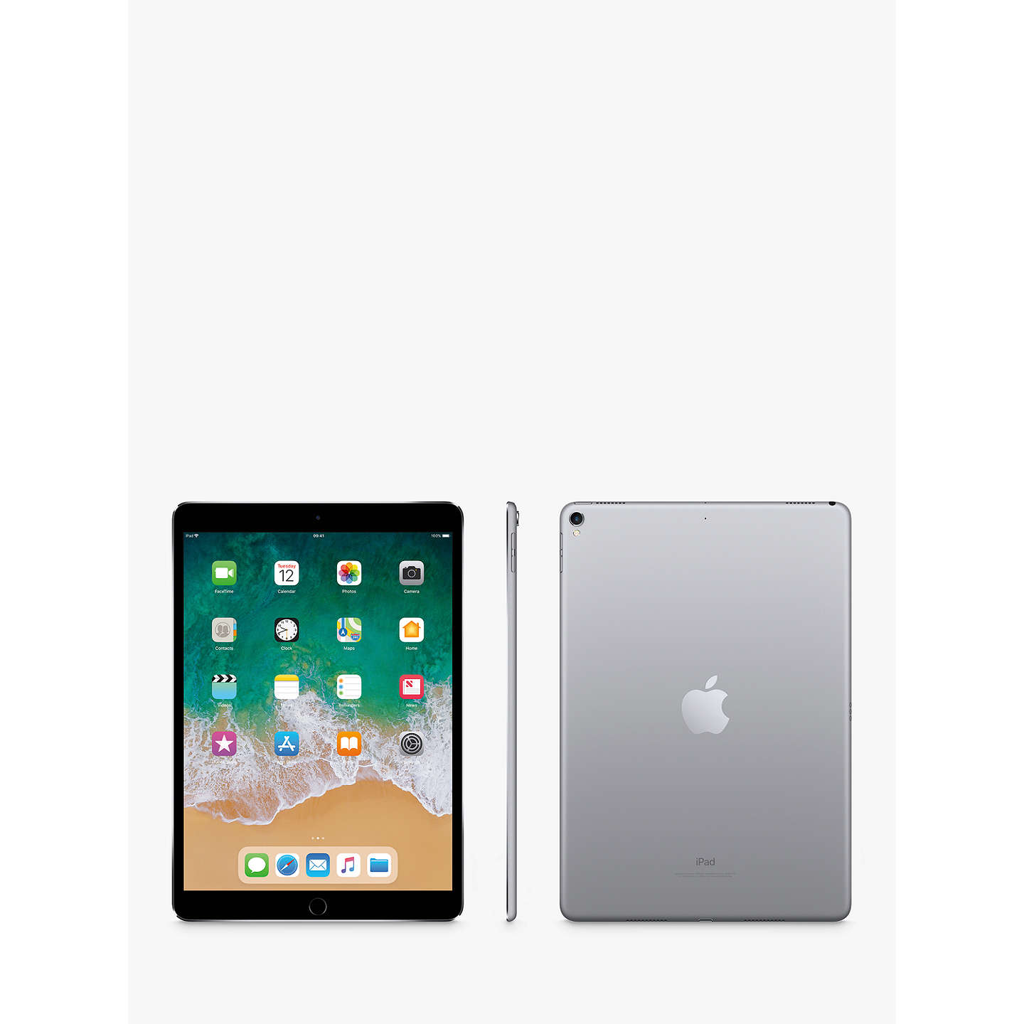 "Buy2017 Apple iPad Pro 10.5"", A10X Fusion, iOS11, Wi-Fi, 64GB, Space Grey Online at johnlewis.com"