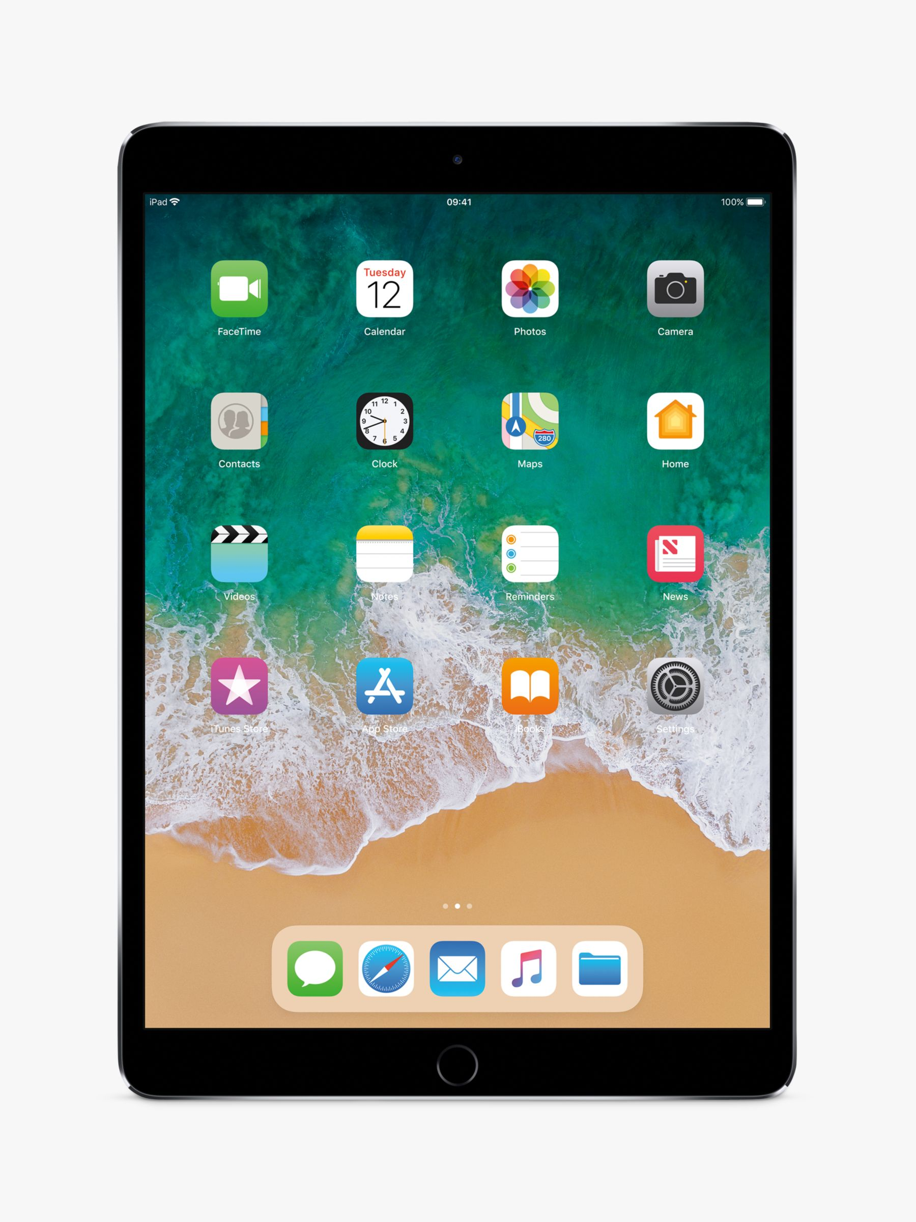 "Buy2017 Apple iPad Pro 10.5"", A10X Fusion, iOS, Wi-Fi, 512GB, Space Grey Online at johnlewis.com"