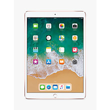 "Buy 2017 Apple iPad Pro 10.5"", A10X Fusion, iOS10, Wi-Fi, 256GB, Rose Gold and Targus Versavu Rotating Stand Case Online at johnlewis.com"