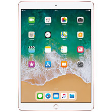 "Buy 2017 Apple iPad Pro 10.5"", A10X Fusion, iOS10, Wi-Fi & Cellular, 256GB, Rose Gold and Targus Versavu Rotating Stand Case Online at johnlewis.com"