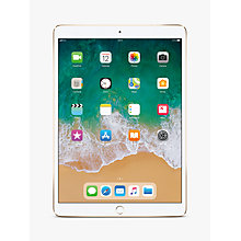 "Buy 2017 Apple iPad Pro 10.5"", A10X Fusion, iOS10, Wi-Fi & Cellular, 512GB, Gold and Targus Versavu Rotating Stand Case Online at johnlewis.com"