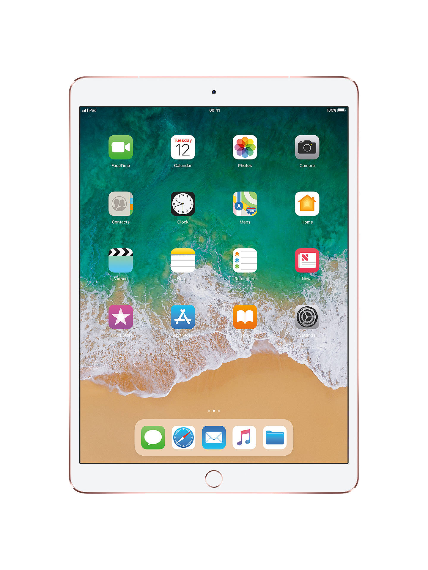 "Buy2017 Apple iPad Pro 10.5"", A10X Fusion, iOS11, Wi-Fi & Cellular, 512GB, Rose Gold Online at johnlewis.com"