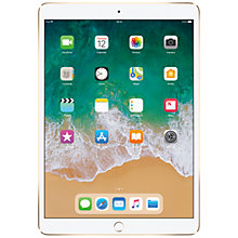 "Buy 2017 Apple iPad Pro 10.5"", A10X Fusion, iOS10, Wi-Fi, 256GB, Gold and Targus Versavu Rotating Stand Case Online at johnlewis.com"